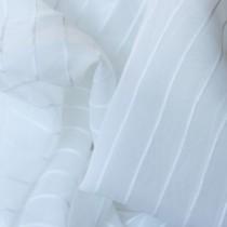 Firana w kolorze białym z pasami - FIRA 171
