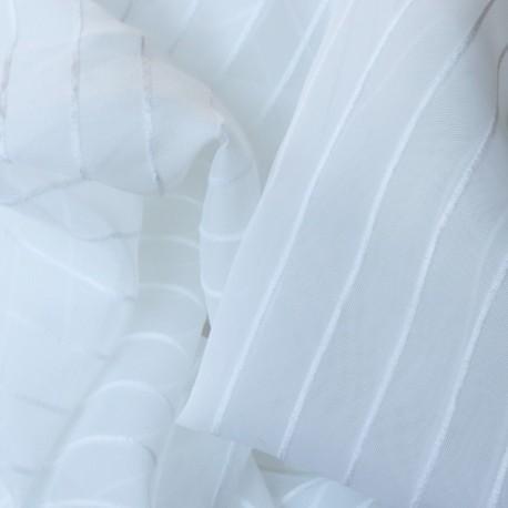 Roleta rzymska biała w pasy - FOLK 170