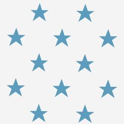 Poszewka niebieska w gwiazdki