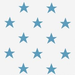 Zasłona w niebieskie gwiazdki