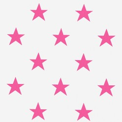 Zasłona w różowe gwiazdki