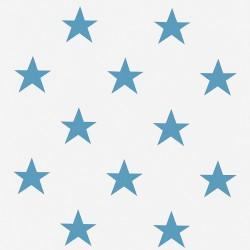Roleta rzymska ecru w niebieskie gwiazdki
