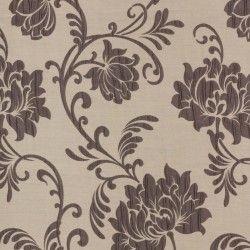 Roleta rzymska beżowa w brązowe kwiaty
