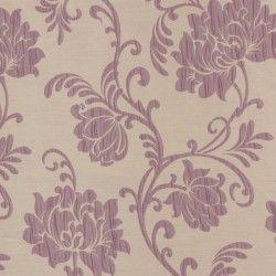 Roleta rzymska beżowa w fioletowe kwiaty