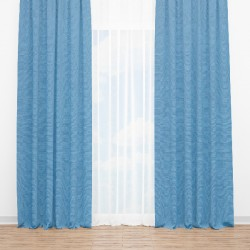 Zasłona w kolorze niebieskim