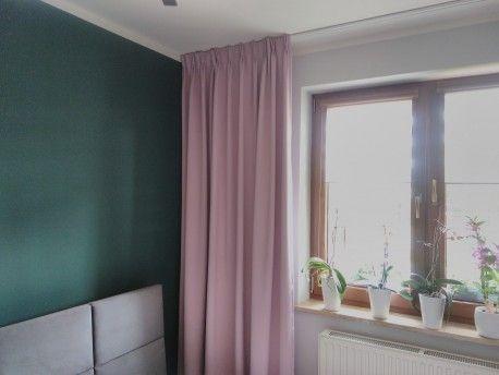 Zasłona w kolorze pudrowego różu - DIM 164